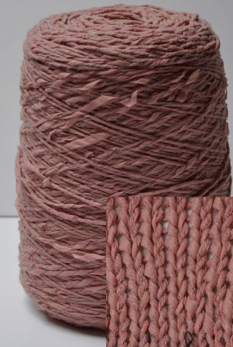 Dust pink chunky rag rolled style yarn wool mix 500g cones